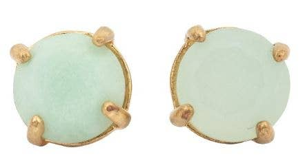 JEWELRY | adventurine + gold studs