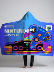 japanese n64 box hooded sherpa blanket