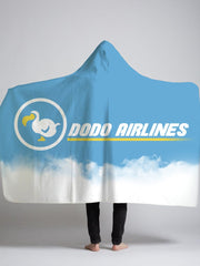 d0d0 airlines hooded sherpa blanket