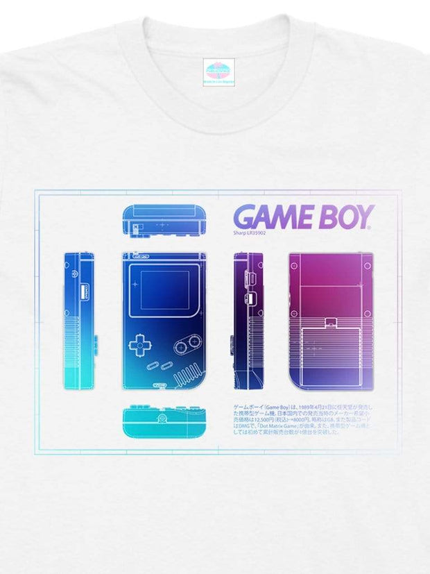 gameboy diagram cotton t-shirt