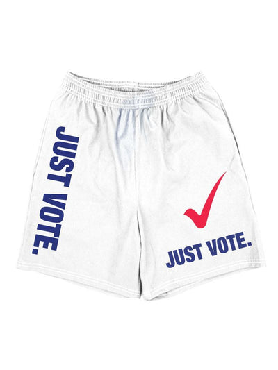 just vote basketball shorts