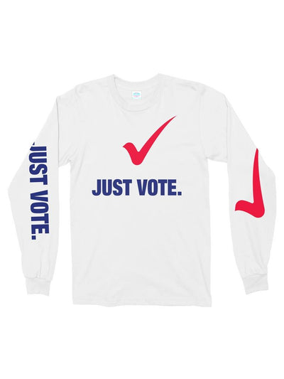 just vote cotton long sleeve t