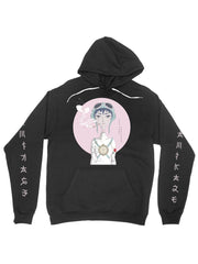 kamikaze love special edition (black) cotton hoodie