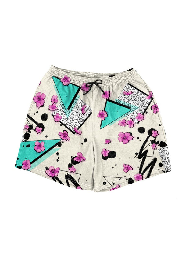 memphis flowers swim shorts