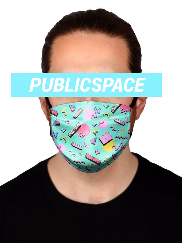 memphis party cloth face mask (non medical)