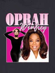 retro oprah cotton t-shirt