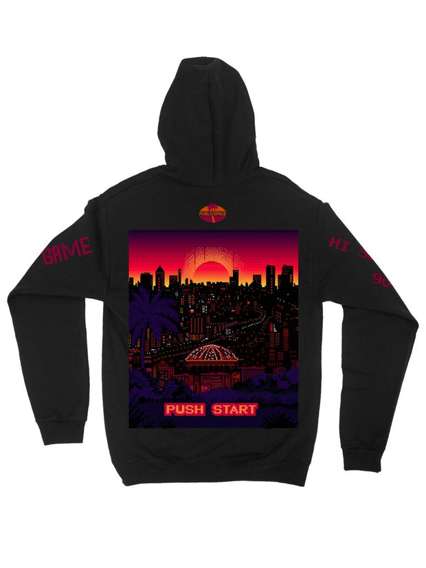 outrun sunset hoodie