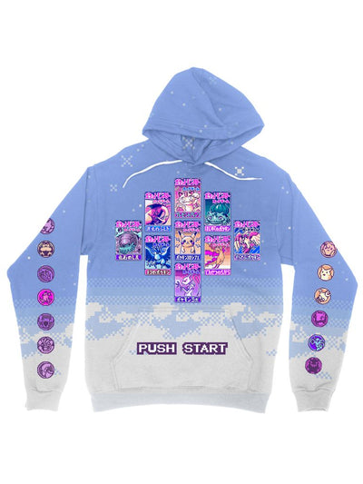 trading cards clouds hoodie