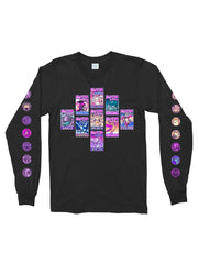 trading cards long sleeve t