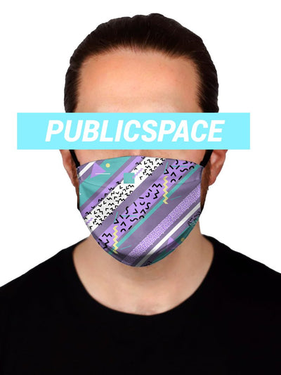 purple haze cloth face mask (non medical)