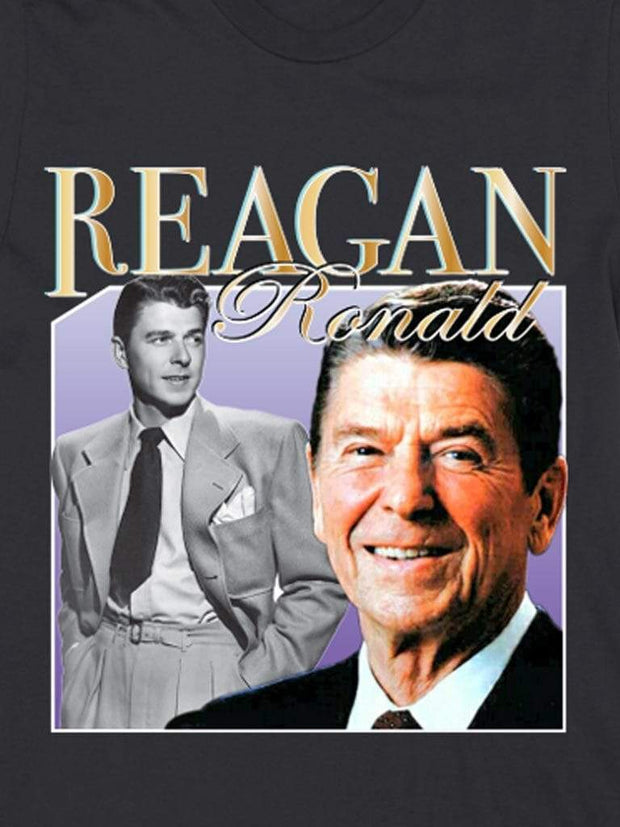 retro ronald reagan cotton t-shirt