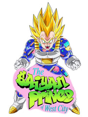 the saiyan prince (memphis) t-shirt