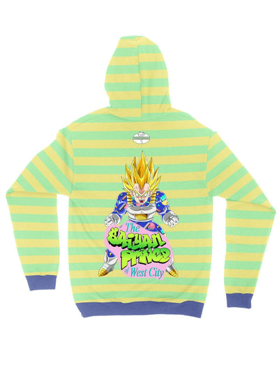 the saiyan prince (stripe) zip jacket