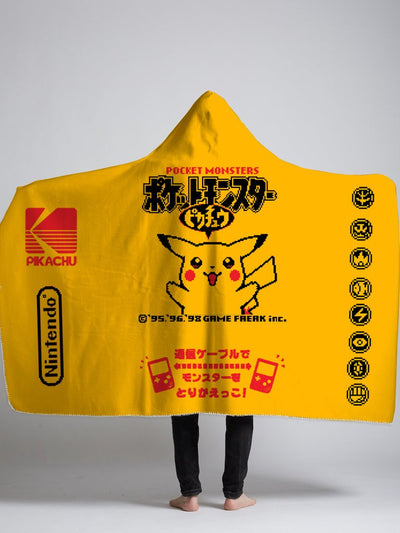 pika hooded sherpa blanket