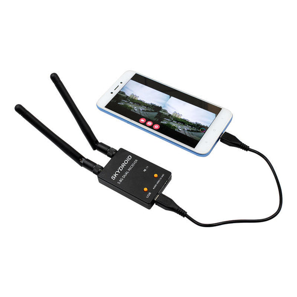 Skydroid 5.8Ghz 150CH True Diversity FPV Receiver for UVC OTG Smartphone Android Tablet PC Monitor VR Headset