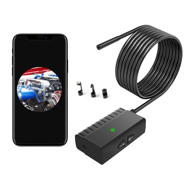 NK-WS3-55 5.5mm 6 LED Lens Wireless Borescope HD Inspection Camera 5 Million Pixels Lens with AI Mode for IOS Android