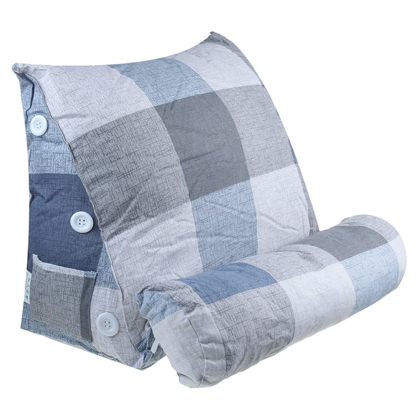 60*50*22CM Triangle Cushion Waist Cushion Rest Pillow Simple Ins Style Removable And Washable (With Headrest)