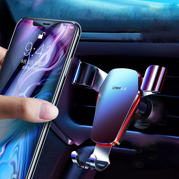 Cafele Metal Gravity Linkage Automatic Lock Air Vent 360 Rotation Car Phone Holder For 4.0-6.5 Inch Smart Phone