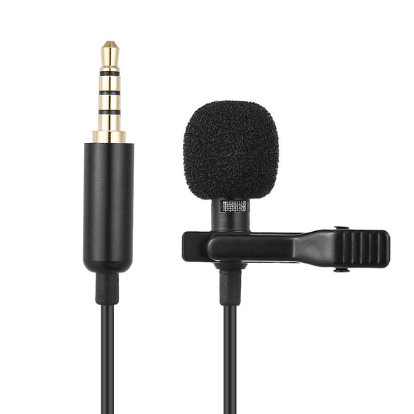 Andoer Mini Microphone Clip-on Lapel Lavalier Condenser Mic 3.5mm Wired Microphone for DSLR Camera for iPhone Android