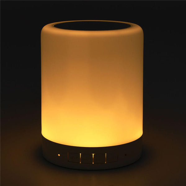 Mini LED Colorful Night Light bluetooth Music Box Speaker Portable USB Table Lamp Decoration