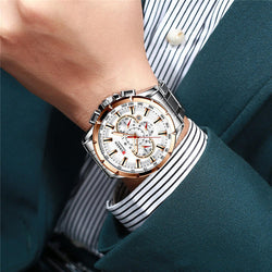 CURREN 8363 Chronograph Waterproof Men Wrist Watch Luminous Display Quartz Watch