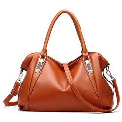 Women PU Leather Elegant Daily Handbag Shoulder Bag Crossbody Bag - EY Shopping