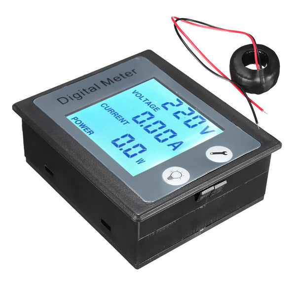 AC 80-260V 100A Digital Voltage Power Energy Meter Ammeter Voltmeter Transformer
