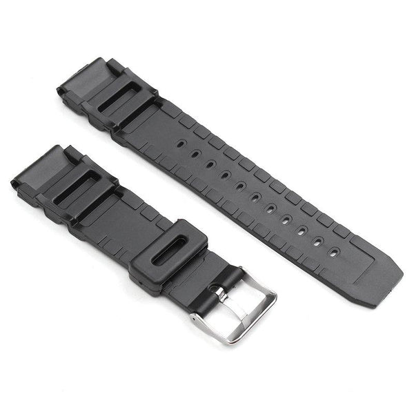 22mm Black Rubber Replacement Band Strap With Batch For Casio Sports & Marine Gear Watch