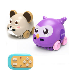 Rockwoo 1:32 Smart Mouse Owl RC Robot Following Induction/Stick Control Obstacle Avoidance Robot Toy