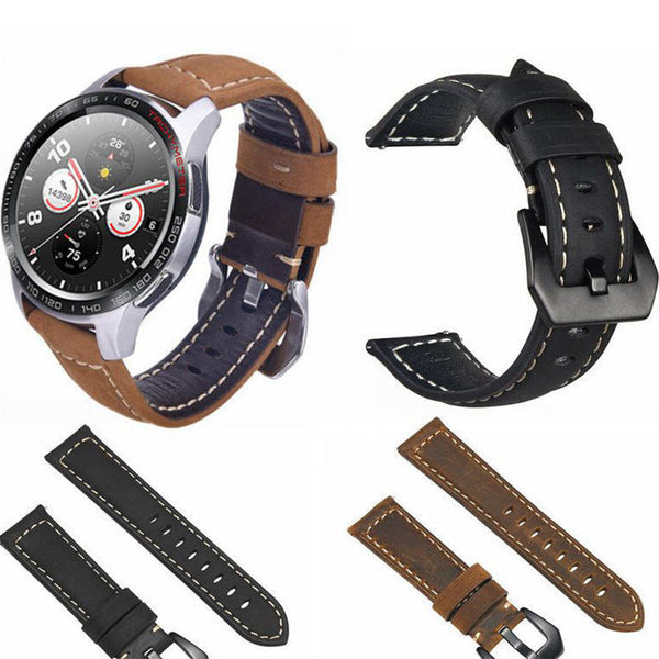 Bakeey 22mm Genuine Leather Strap Replacement Watch Band for Huawei Honor magic