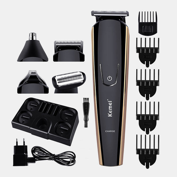 KEMEI KM526 Multi-Function Electric Hair Trimmer USB Rechargeable Nose Hair Beard Clipper Cutter