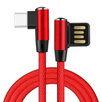 Bakeey Reversible USB Double L Bending Type C Nylon Cord Data Cable for Samsung S8 Xiaomi 6 Oneplus
