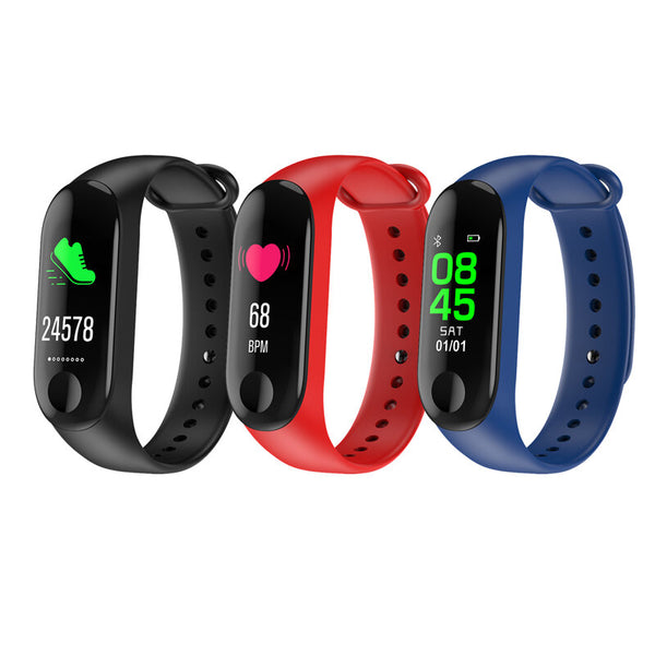 "XANES M3D 0.96"" Color Screen Waterproof Smart Watch Heart Rate Monitor Fitness Bracelet Mi Band"