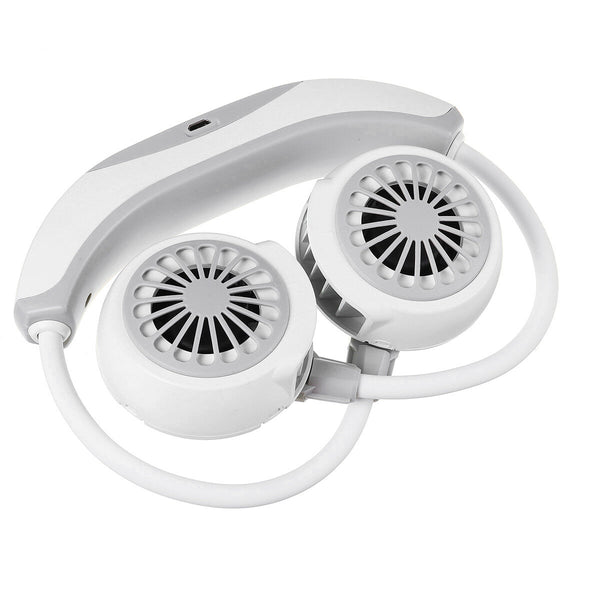 USB Rechargeable Portable Hanging Neck Fan 3 Speeds LED Rechargeable Mini Sports Fans