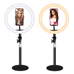 Ring Light Beauty Lamp USB Power Supply Selfie Light with Mobile Phone Stand