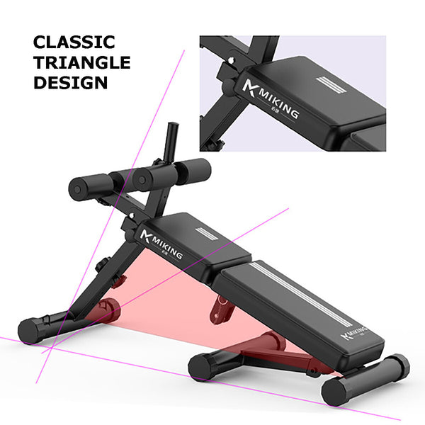 Adjustable Sit up Bench AB Flat Incline Decline Abdominal Training Crunch
