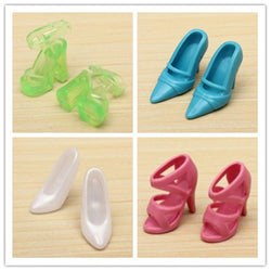 40 Pairs Different High Heel Shoes Boots Accessories Doll House