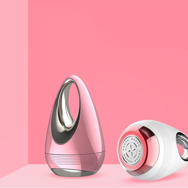 Water Drop Design Color Light Ion Beauty Machine Portable Facial Skin Vibration Massage Device
