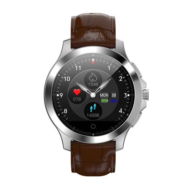 Bakeey W8 ECG+PPG Heart Rate HRV Check 306 Full Steel Multi-reminder Sport Modes Smart Watch