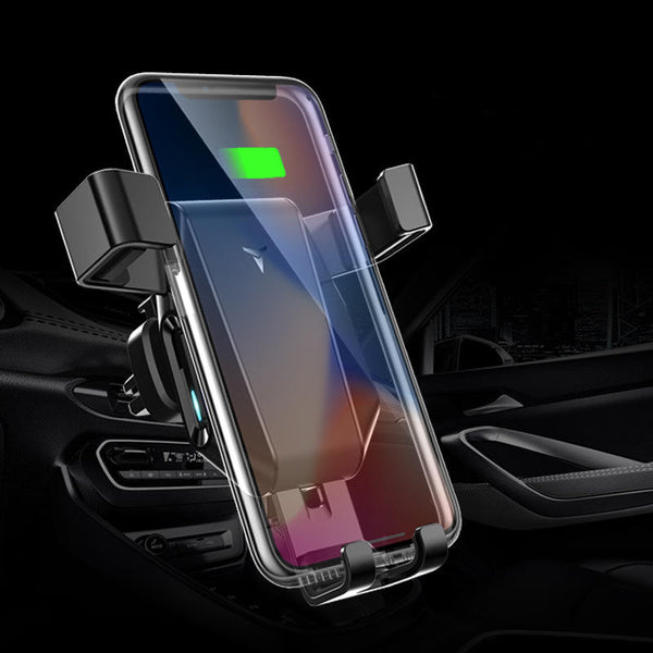 10W Qi Wireless Charger Fast Charging Quick Charge 3.0 Gravity Air Vent Car Phone Holder For Smart Phone iPhone Samsung Huawei Xiaomi