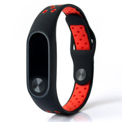 Bakeey Replacement Double Color Silicone Strap Smart Wristband Bracelet for Xiaomi M iband 2