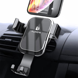Floveme Gravity Linkage Automatical Lock Car Mount Air Vent Holder for iPhone Xiaomi Smart Phone