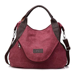 Women Canvas Tote Bag Casual Crossbody Shoulder Bag - EY Shopping