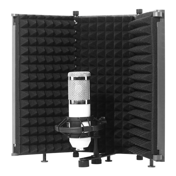 Foldable Microphone Acoustic Isolation Shield Acoustic Foams Studio Panel for Recording Live Broadcast