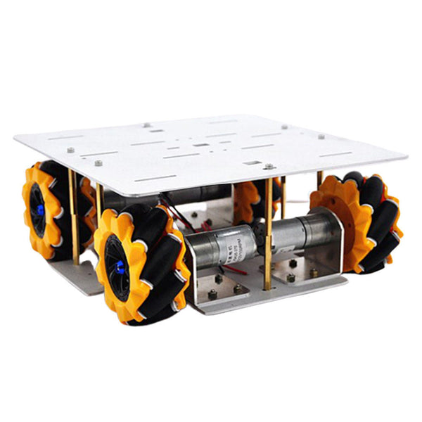 D-30 DIY Smart 4WD RC Robot Car Chassis Base With Omni Wheels DC 12V 1:46 Motor