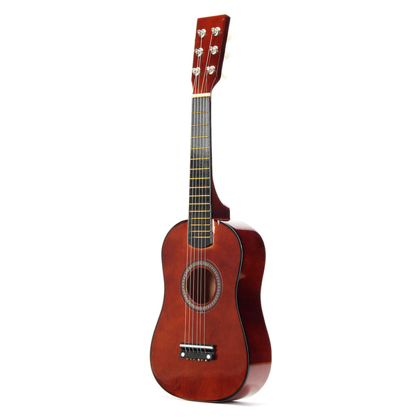 23 Inch 6-String Brown Basswood Ukulele Mini Musical Instrument For Children