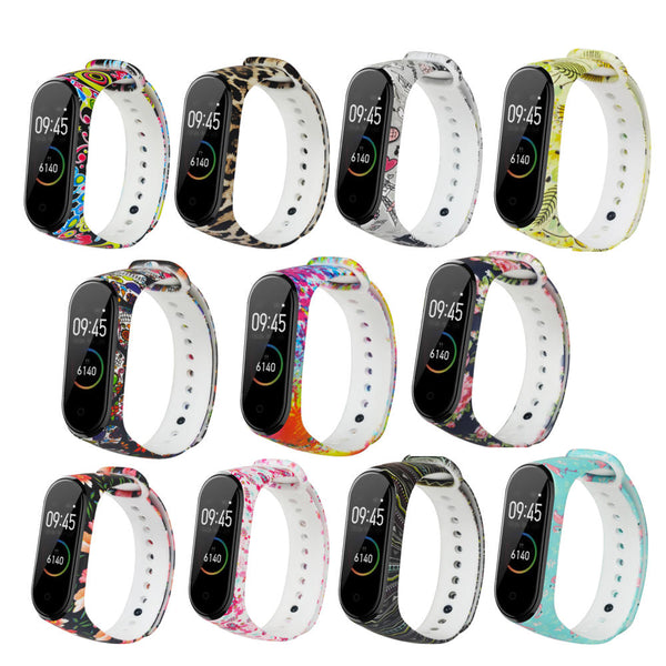 Bakeey Painted Pattern Replacement Silicone Watch Band Strap for Xiaomi Band 4&3 Smart Watch Band