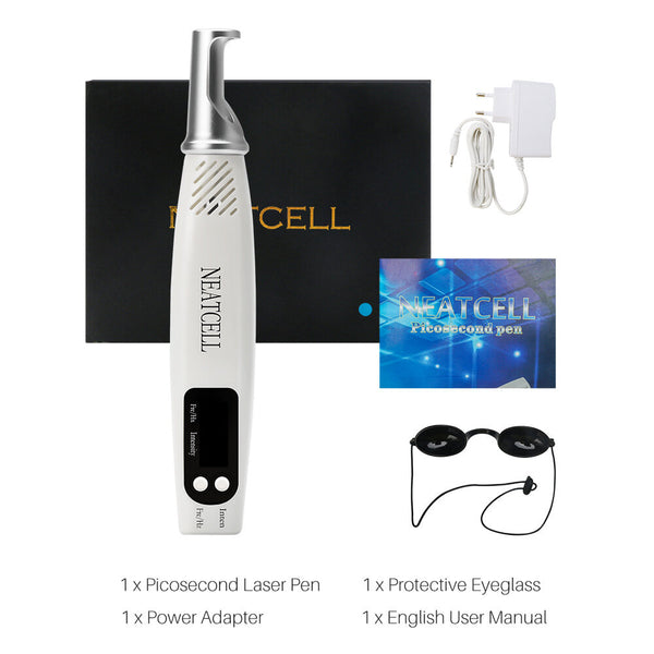 Laser Picosecond Pen Portable Red And Blue Laser Eyebrow Washing Machine Freckle Removal Tattoo Spot Mole Pen