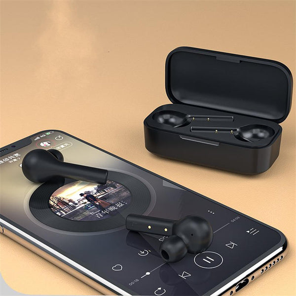 QCY T5 TWS bluetooth 5.0 Earphone HiFi Stereo AAC Smart Touch HD Calls Headphone from Eco-System