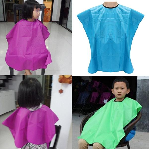 Kid Children Waterproof Hair Salon Cutting Barber Cape Gown Apron